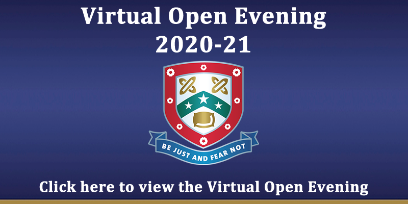 Virtual Open Evening Popup